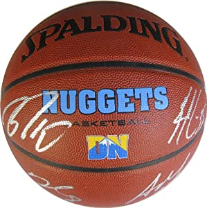 2013-2014 Denver Nuggets, Team, Signed, Autographed, NBA Basketball, a Coa with the... by Coast+to+Coast+Collectibles
