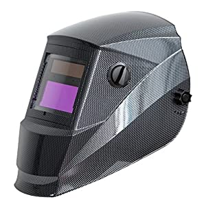 Antra AH6-260-001X Solar Power Auto Darkening Welding Helmet with AntFi X60-2 Wide Shade Range 4/5-9/9-13 with Grinding Feature Extra lens covers Good for Arc Tig Mig Plasma CSA/ANSI Certified By Colts Lab from Antra