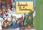 Animals at Christmas Postcard Book
