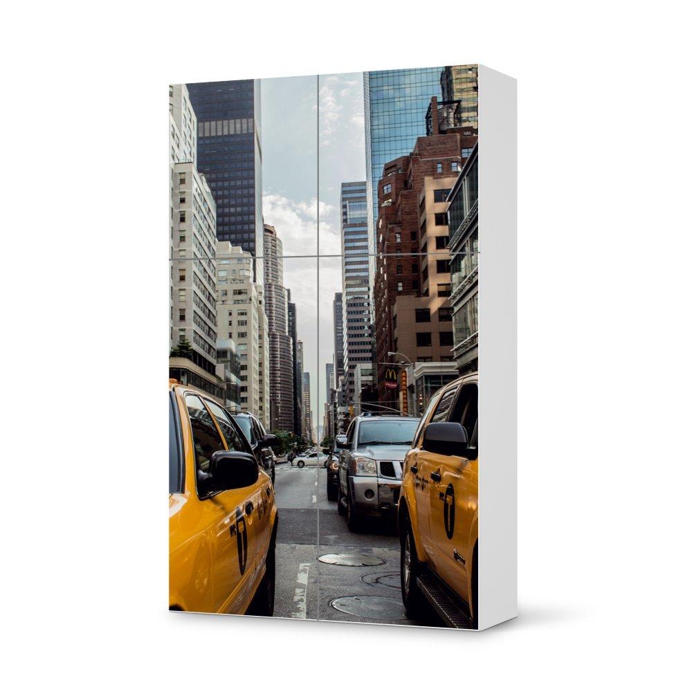 Folie IKEA Besta Schrank Hochkant 4 Türen (2+2) / Design Aufkleber Yellow Cab / Dekorationselement günstig