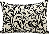 Kathy Ireland Worldwide Q5114 black Decorative Pillow, 14
