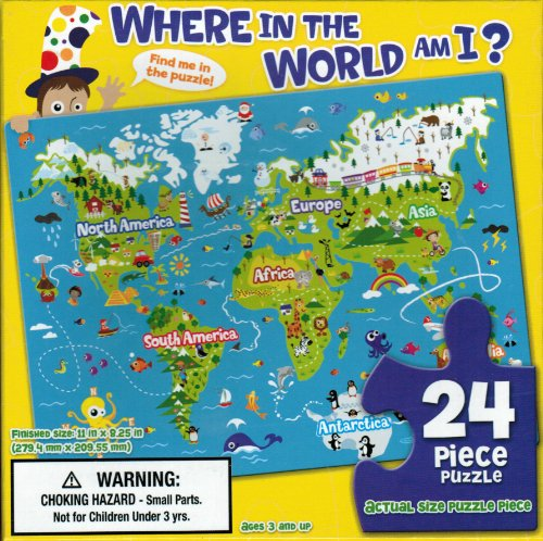 Where in the World am I? 24 piece Jigsaw Puzzle
