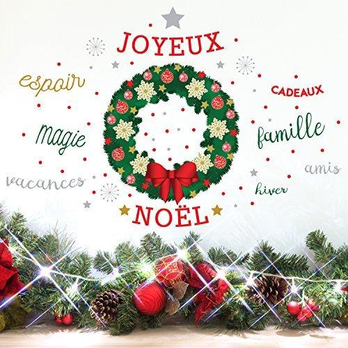 wallflexi-guirlande-de-noel-decorations-de-noel-stickers-muraux-avec-citation-francais-mur-murales-s