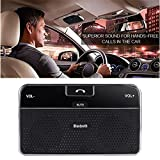 VicTsing Wireless Bluetooth 4.0 Visor In-Car Speakerphone Handsfree Car Kit Built-in Microphone For iPhone 5 5S 5C 4S 4 iPad, Samsung Galaxy S5 S4 Note 2 Note 3, Google Nexus 7, Google LG Nexus 4, Google LG Optimus G Pro, Sony Xperia Z1 L39H Z L36h, Blac