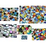 Kennenlernmix: 560 St. Mosaiksteine Bastelmix aus 6 versch. Art. alle 1x1cm ca. 410g.