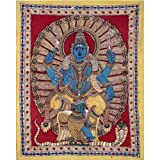 Redbag Lord Murugan (Son Of Lord Shiva) Kalamkari Painting