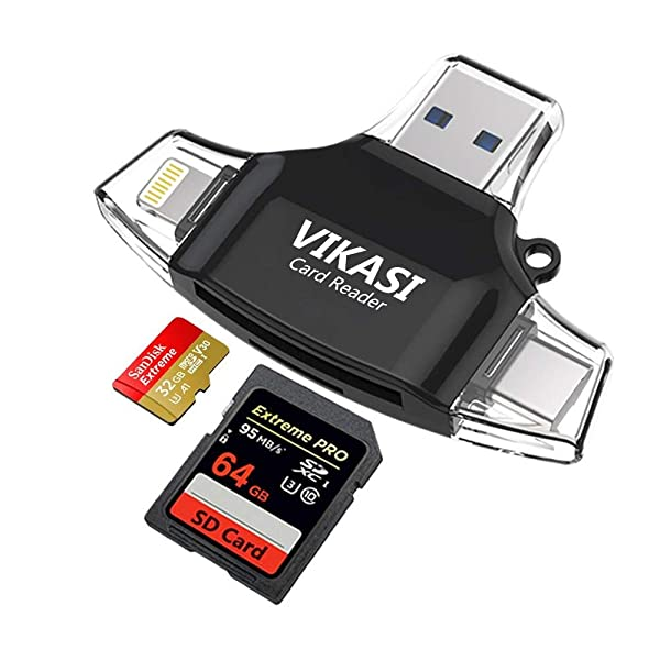 f98bd82804b VIKASI SD Card Reader,Memory Micro SD Card Reader USB Type C Adapter Viewer  Compatible with iPhone iPad ...