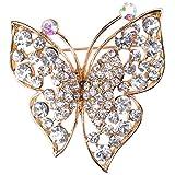 broche de mariposa con cristales