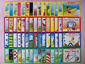 60 Scholastic Little Leveled Readers Learn to Read Preschool Kindergarten First Grade Children's Book Lot (15 Books Each in Levels A, B, C, and D)