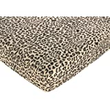 Animal Safari Fitted Crib Sheet for Baby and Toddler Bedding Sets by Sweet Jojo Designs - Animal Print Microsuede