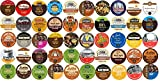 50-count K-cup for Keurig Brewers All Coffee REGULAR & FLAVORED Variety Pack Featuring Tim Hortons, Green Mountain, Coffee People, Emerils, Newmans Own Organic, Donut House, Caza Trail, Gloria Jeans, Grove Square Cappuccino, Authentic Donut House, Barnies Coffee Kitchen, Hurricane, Guy Fieri, Brown Gold, Martinson, Marley Coffee, Brooklyn Bean, & Java Factory