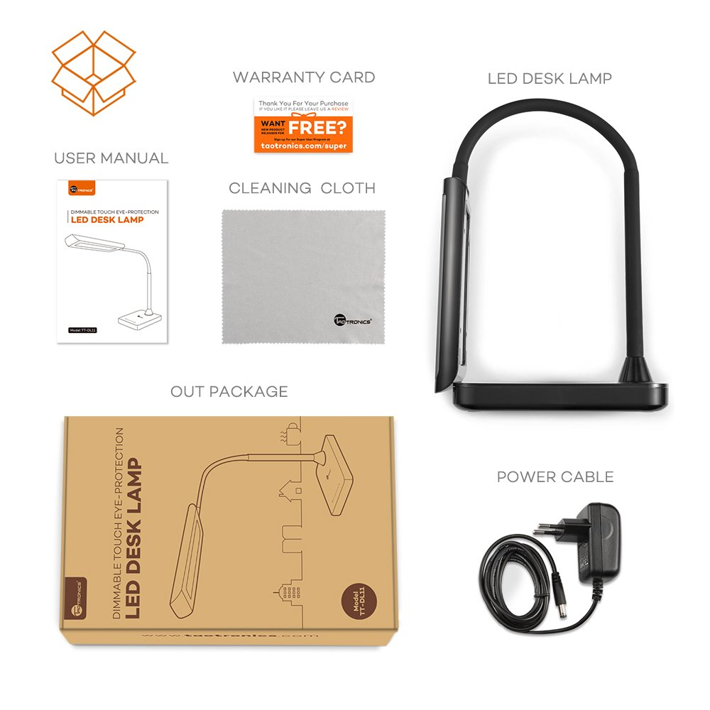 Taotronics TT-DL11 Desk Lamp Box Contents