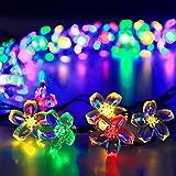 Solar Powered String Lights Outoor flower fairy 50 LED Multi Color Blossom lighting for Christmas