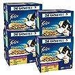 FELIX Sensations en Gel�e Viandes-Poissons - 24 x 100 g - Sachets fraicheur pour chat adulte - Lot de  4
