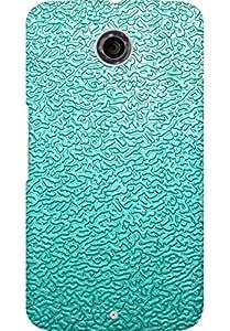 AMEZ designer printed 3d premium high quality back case cover for Motorola Nexus 6 (Light blue pattern)