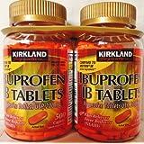 Kirkland Signature Ibuprofen IB Tablets-Caplet Form for Easy Swallowing- IB active ingredient**- Ibuprofen USP, 200 mg Caplet-500 Count per Bottle-2 Bottle Pack-1,000 Caplets Total