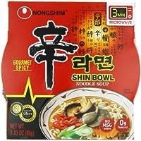 12-Pack Nongshim Shin Big Bowl Gourmet Spicy Noodle Soup