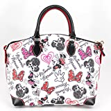 Disney Dooney & Bourke Minnie Mouse Hearts and Bows Crossbody Satchel Bag
