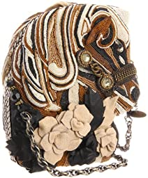 Mary Frances 12-490 Thoroughbread Novelty Clutch,Multi,One Size