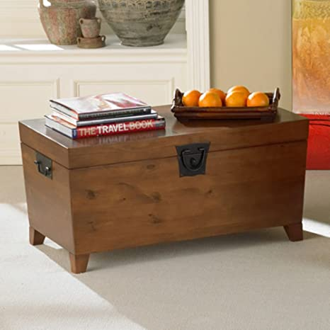 Pyramid Trunk Storage Bench Coffee Table