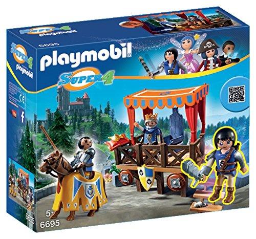 PLAYMOBIL Super 4 Royal Tribune with Alex Figure Building Kit JungleDealsBlog.com