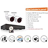 ANRAN Surveillance 4 Channel 1920P NVR HD 1080P IP PoE Security Camera System with 2 Outdoor Indoor 2.0 Megapixel 1080P Cameras QR Code Easy Setup Remote View- with 1TB HDD SWINWAY (Color: 4ch 2cam 1TB)