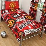 Manchester United Official Patch Single Duvet Set - Multi-Colour