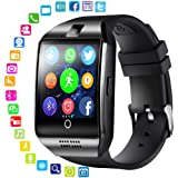 Bluetooth Smart Watch Touchscreen with Camera, Sim Card Slot,Music,Unlocked Smartwatch Cell Phone for Android Samsung and iOS (Black) (Color: Black, Tamaño: univesal)