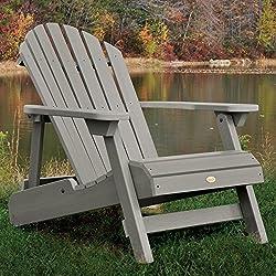 Highwood Hamilton Folding and Reclining Adirondack Chair, Adult Size, Coastal Teak