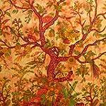 Tagesdecke Lebensbaum orange 235x205c...