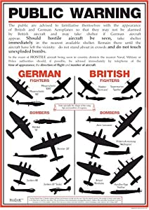 World War 2 Public Warning Aircraft Identification Poster - A3