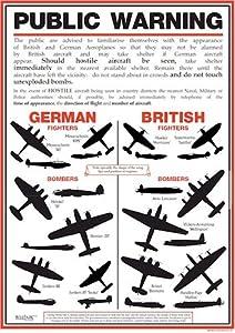 World War 2 Public Warning Aircraft Identification Poster