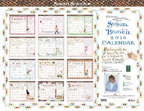 2016 Susan Branch 12 Month Desk Blotter Calendar