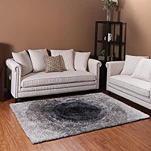 Ustide grey high pile living room area rug for Living room rugs amazon