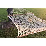 "59"" Double Wide Soft Cotton Rope Hammock That Accomodates for Two - Great Yard, Beach, Camping, Outdoor, and Indoor 2 Person Hammock Bed That Works Great with a Stand or Straps"