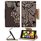Luxlady Premium Nokia Lumia 1520 Flip Case Abstract floral background for design IMAGE 23756040 Pu Leather Card Holder Carrying