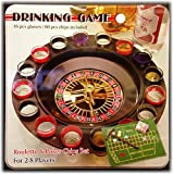 16 Shot Glass Roulette & Poker Chips Drinking Game Set in Tin Case