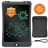 LCD Writing Tablet with Sleeve Case, ERUW 10 Inch Electronic Graphics Drawing Pads, Drawing Board eWriter, Digital Handwriting Doodle Pad with Memory Lock for Kids Home School Office,Black (Color: Black)