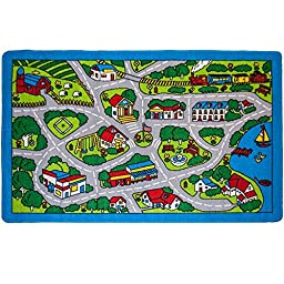American Sale Street Map Gray 3x5 Area Rug Kids Area Rug - Street Map Grey (3 Ft. 3 In. X 4 Ft. 10 In.)