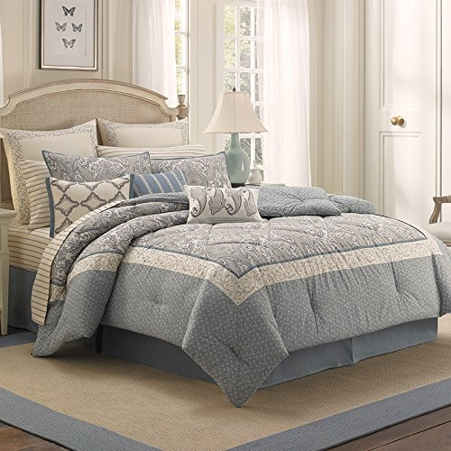 Queen Comforter Set (Laura Ashley Whitfield) front-1071026