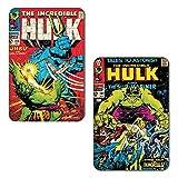 Marvel 'Hulk - Submariner' Rectangular MDF Fridge Magnet (7.5 cm x 10 cm, Set of 2)