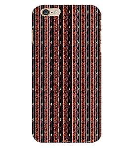 Stripes Pattern 3D Hard Polycarbonate Designer Back Case Cover for Apple iPhone 6