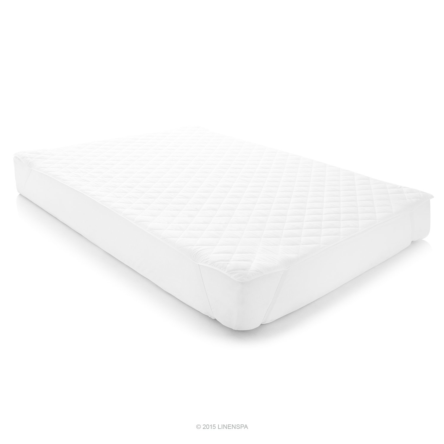 linenspa waterproof mattress pad with quilted microfiber cover twin xl ebay. Black Bedroom Furniture Sets. Home Design Ideas