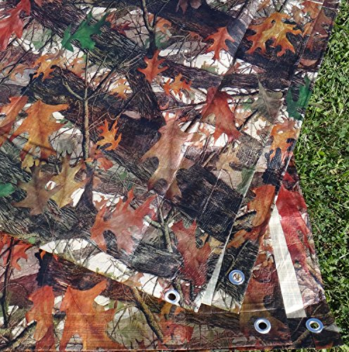 12 Ft. X 16 Ft. Tree/Leaf Print Camouflage Tarp
