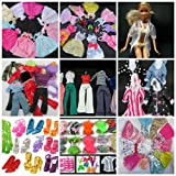 Massive Complete Bundle Set of 50+ Barbie Sindy sized doll's items: 5x long ball gowns evening wedding fairy dresses 10x short dresses, 5x outfits, 2x lingerie sets, 3x swimsuits, 2x coats, 12x shoes & 12x hangers - posted from London by Fat-Catz