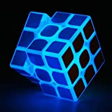 TANCH Glow in the Dark speed Cube 3x3x3 Magic Cube Puzzle Toy Half transparent