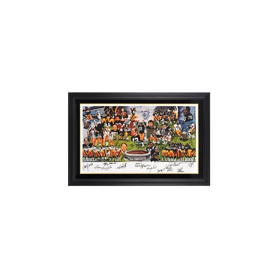 Mounted Memories Pittsburgh Steelers Team of the 70s Standard Framed