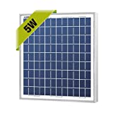 NewPowa High efficiency 5W 12V Poly Solar Panel Module RV Marine Boat Off Grid (Tamaño: 8.74inch×10.63inch×0.71inch / 222mm x 270mm x 18mm)