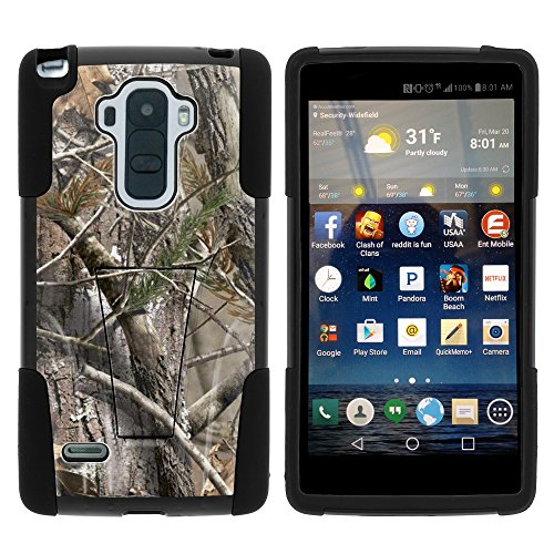 LG Stylo Case - Full Body Fusion STRIKE Impact Kickstand Case with Exclusive Illustrations for LG G Stylo LS770 - LG G4 Stylus T Mobile - Boost Mobile - Sprint from MINITURTLE Includes Clear Screen Protector and Stylus Pen - Tree Bark Hunter Camouflage