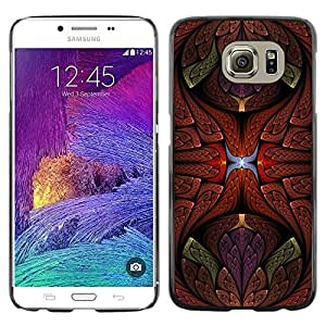 Omega Covers - Snap on Hard Back Case Cover Shell FOR Samsung Galaxy S6 - Petal Floral Bronze Color